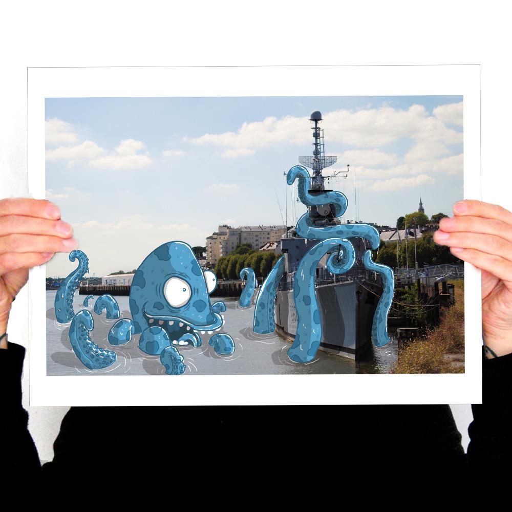 Affiche amusante de nantes en vente sur bluerabbink.fr