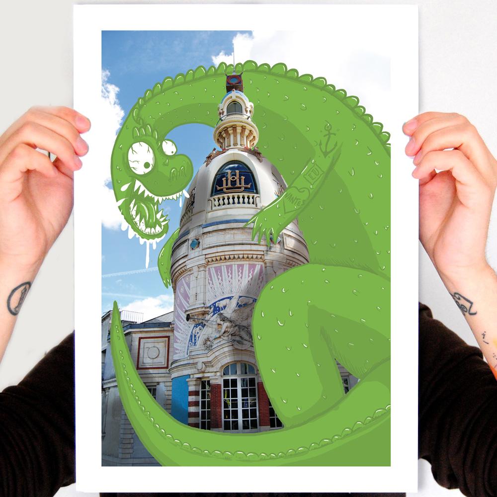 Découvrez une affiche originale de la Tour Lu en vente sur bluerabbink.fr