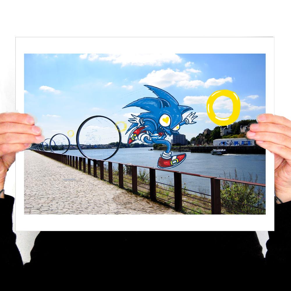 Commandez une affiches rigolote de Nantes chez Blue Rabb'Ink