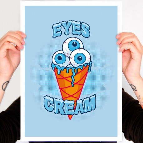 affiche tattoo eyes cream