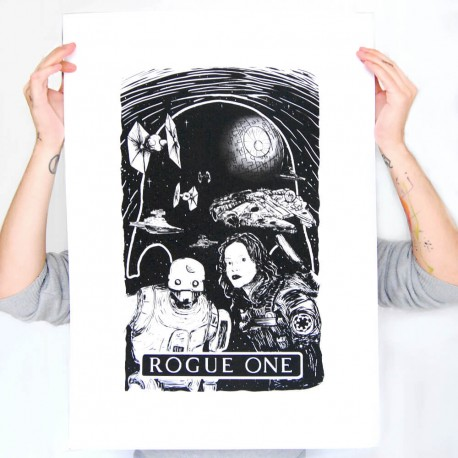 sérigraphie affiche star wars rogue one