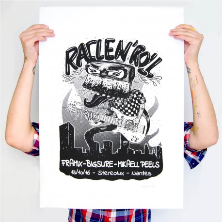 sérigraphie affiche racle n roll